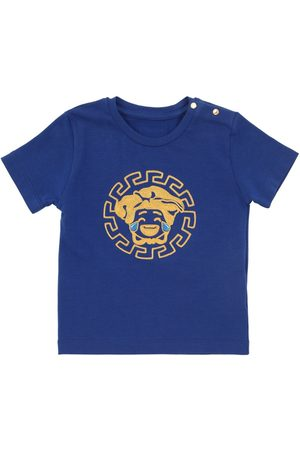 VERSACE Embroidered Cotton Jersey T-shirt