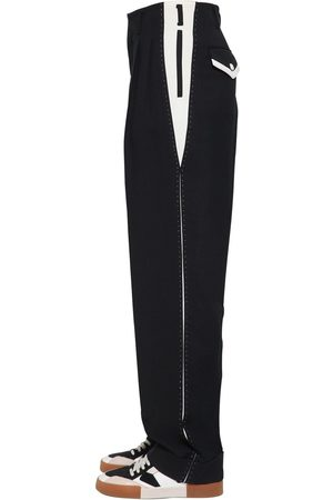 Dolce & Gabbana Cotton Blend Pants W/ Stitching Details