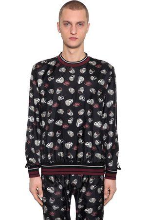 Dolce & Gabbana Ring Print Silk Twill Sweatshirt