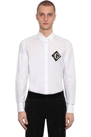 Dolce & Gabbana Cotton Shirt W/ Logo Patch On Breast