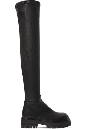 ANN DEMEULEMEESTER 40mm Stretch Leather Over The Knee Boots