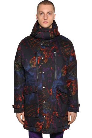 Dsquared2 Printed Tie Dye Cotton Parka Coat
