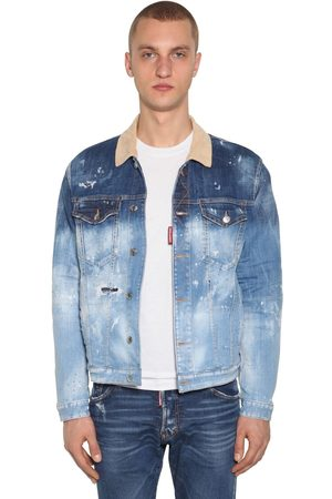 Dsquared2 Cotton Denim Jacket W/ Check Lining