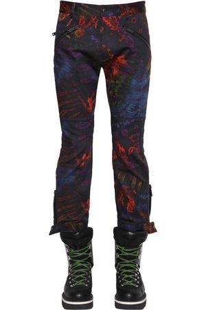 Dsquared2 Printed Tie Dye Cotton Biker Pants
