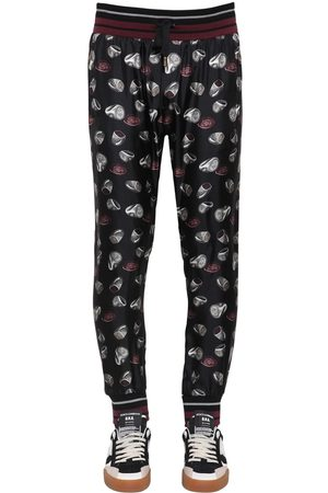Dolce & Gabbana Ring Print Silk Twill Jogging Pants