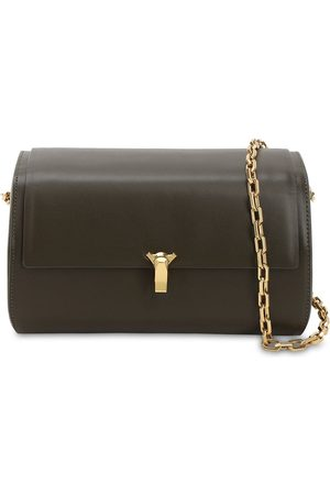 THE VOLON Po B Trunk Leather Shoulder Bag