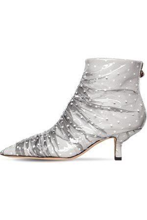 Midnight 00 65mm Antoinette Satin & Tulle Boots