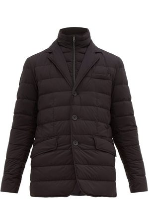 HERNO Single Breasted Quilted Down Jacket - Mens