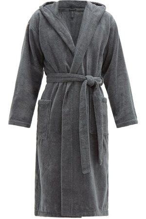 Schiesser Men Bathrobes - Hooded Cotton-terry Robe - Mens - Grey