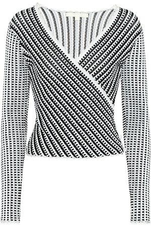 JONATHAN SIMKHAI Striped stretch-knit top