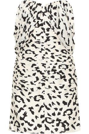 Self-Portrait Leopard-print jacquard minidress
