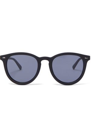 Le Specs Fire Starter Round Rubberised Sunglasses - Womens - Grey