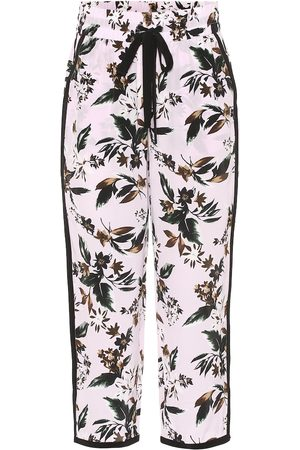 Diane von Furstenberg Lulu floral silk wide-leg pants