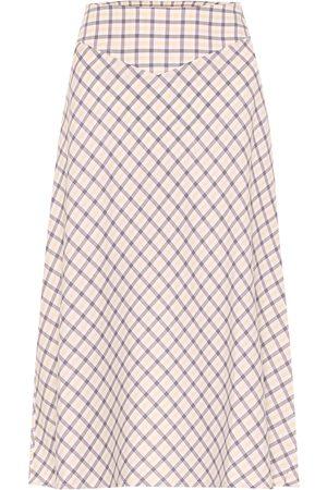 Baum und Pferdgarten Exclusive to Mytheresa – Senga checked cotton midi skirt