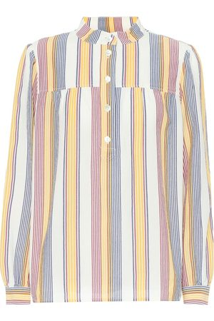 A.P.C Loula striped cotton blouse