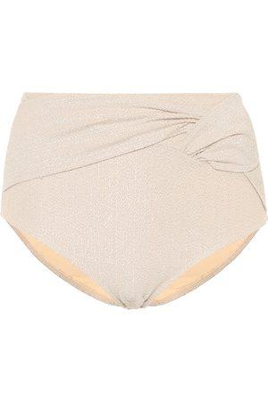 JONATHAN SIMKHAI Metallic high-rise bikini bottoms