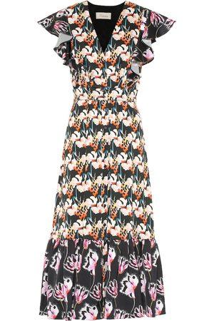 TEMPERLEY LONDON Dragonfly printed crêpe midi dress