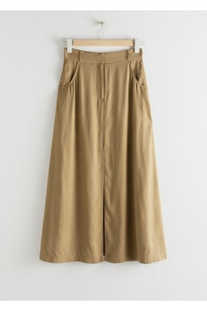 & OTHER STORIES Front Slit A-Line Midi Skirt