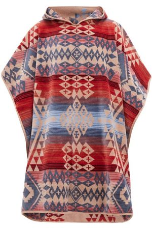 Pendleton Canyonlands Cotton Jacquard Poncho Towel - Mens - Multi