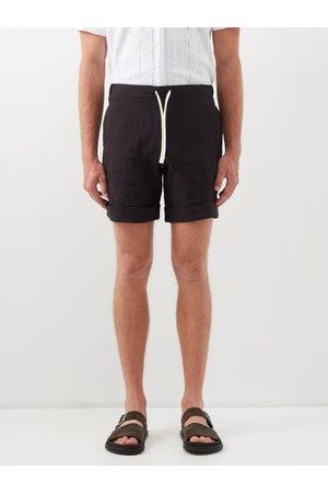 MARANÉ Men Shorts - Slubbed Linen-poplin Shorts - Mens