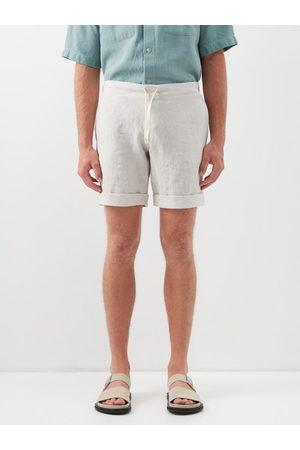 MARANÉ Slubbed Linen-poplin Shorts - Mens