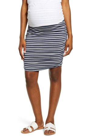 Angel Maternity Women Skirts - Women's Over The Belly Ruched Maternity Skirt
