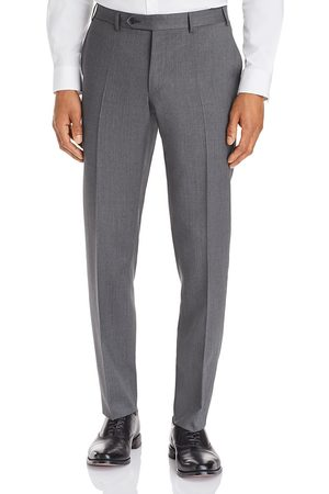 CANALI Capri Textured-Weave Slim Fit Wool Dress Pants