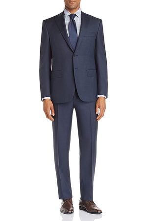 CANALI Siena Textured-Weave Regular Fit Wool Suit