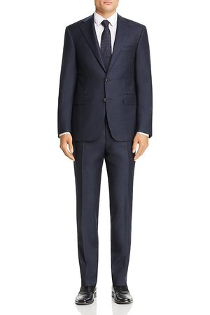 CANALI Capri Melange Solid Slim Fit Wool Suit
