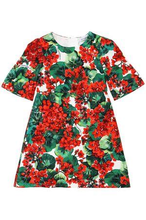 Dolce & Gabbana Floral Print Stretch Viscose Cady Dress