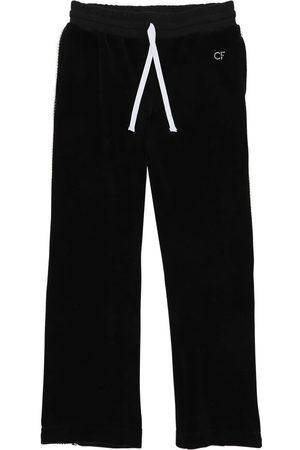 Chiara Ferragni Embellished Chenille Track Pants