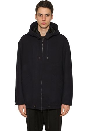 Valentino Men Jackets - Hooded Wool Blend Casual Jacket