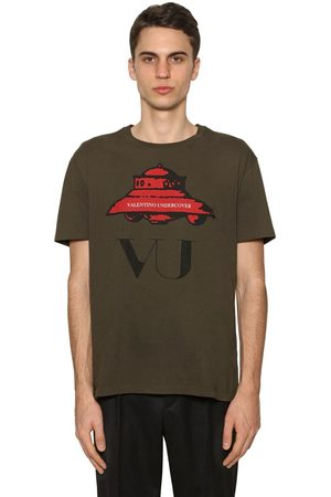Valentino Men T-shirts - Vu Ufo Printed Cotton Jersey T-shirt