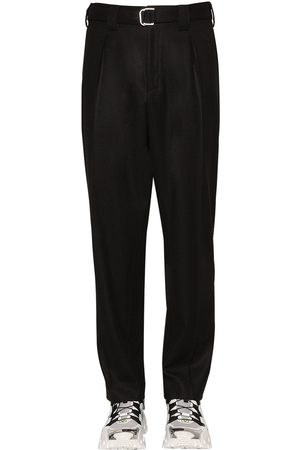 Valentino Men Pants - Wool Blend Pants W/belt