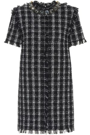 Msgm Cotton-blend tweed dress