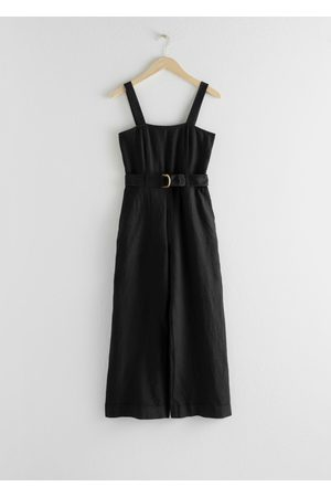 & OTHER STORIES Belted Linen Jumpsuit