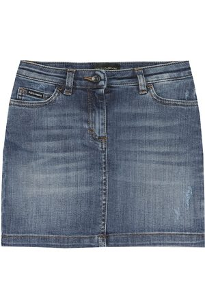 Dolce & Gabbana Cotton-blend denim skirt