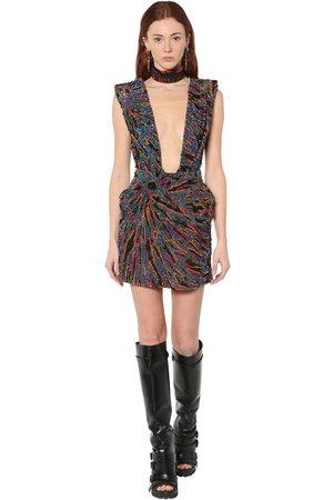 Dsquared2 Bead Embellished Mini Dress