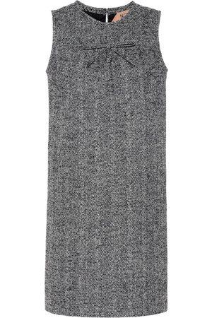 Nº21 Herringbone wool-blend minidress