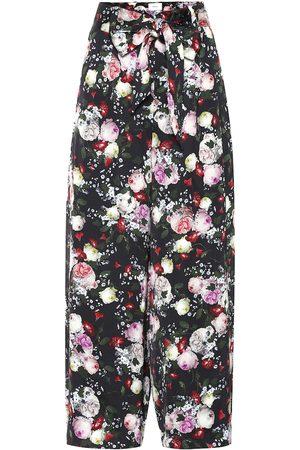 Erdem Everett floral satin pajama pants