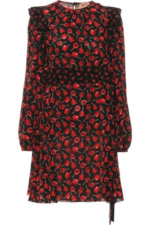 Nº21 Printed silk minidress