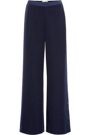 Diane von Furstenberg Ciara high-rise wide-leg crêpe pants