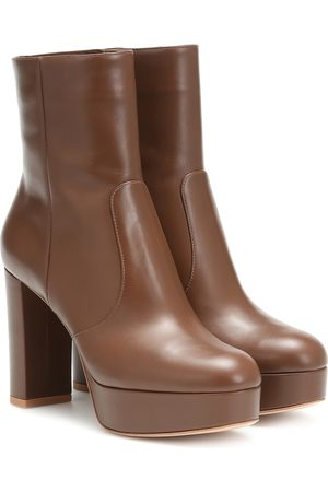 Gianvito Rossi Leather plateau ankle boots