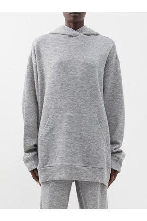 Raey Oversized Cashmere-blend Hooded Sweatshirt - Womens - Grey Marl