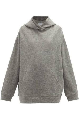 Raey Women Sweatshirts - Oversized Cashmere-blend Hooded Sweatshirt - Womens - Grey Marl