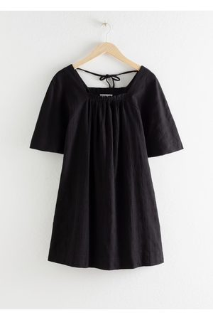 & OTHER STORIES Gathered Check Mini Dress
