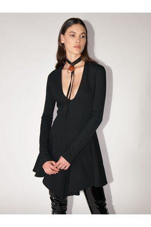 MUGLER Flared Cool Wool Mini Dress