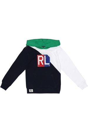 Ralph Lauren Girls Hoodies - Embroidered cotton hoodie