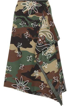 MONSE Camouflage stretch-cotton midi skirt