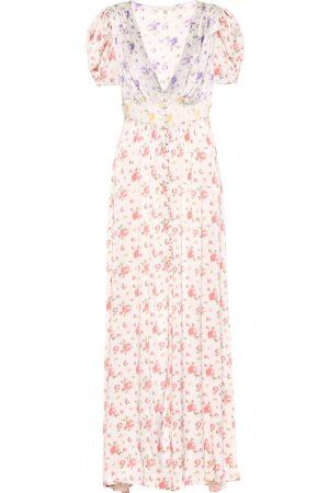 LOVESHACKFANCY Stacy floral silk dress